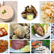 Seafood Collage — Stock Photo