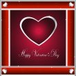 Valentine-Burgandy & Silver Hearts — Stock Photo #38400515