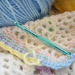 Crocheting a Multi Colored Baby Blanket — Stock Photo #38404715