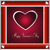 Valentine-Burgandy & Silver Hearts — Stock Photo