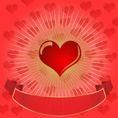 Bursting Heart-Red Background — Stock Photo