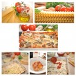 Collage of Making a Homemade Lasagna — Stock Photo