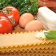 Fresh Ingredients to Make Lasagna — Stock Photo