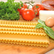 Stock Photo: Fresh Ingredients to Make Lasagna