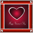 Valentine-Burgandy & Silver Hearts — Stock Photo #39516401