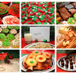 Collage of Christmas Treats — Stock Photo