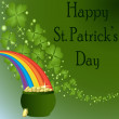 Stock Photo: St Patrick's Day-Pot of Gold with a Rainbow