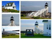 Collage of Marshall Point Lighthouse — Stock Photo