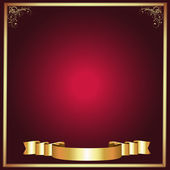 Frame-Burgandy with Gold Abstract — Stock Photo