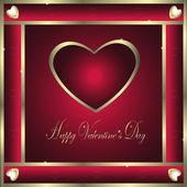 Valentine-Burgandy & Gold Hearts — Stock Photo