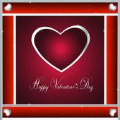 Valentine-Burgandy & Silver Hearts — Stock Photo