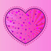 Valentine's-Stars in Pink Heart — Stock Photo