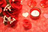 Red Love Valentine Decorations — Stock Photo