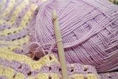 Lavender Crochet — Stock Photo