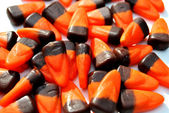 Orange and Brown Candy Corn — Stockfoto
