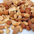 Mixed Nuts on White — Stock Photo