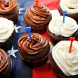 Red, White and Blue Cupcakes — Stock Photo #39520375