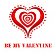 Valentine-Multiple Red Hearts — Stock Photo