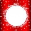 Stock Photo: Snowflakes Over Red with Copy Space