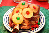Pork Shoulder with Pineapples and Cherries — ストック写真