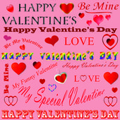 Valentines-Lettering Background — Stock Photo