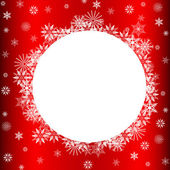 Snowflakes Over Red with Copy Space — Stock Photo