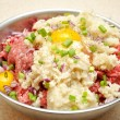Stock Photo: Raw Meat Stuffing Mixture