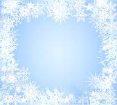 голубая снежинка фон свет — Стоковое фото
