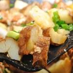 Fried Potatoes on a Spatula — Stock Photo #39783137