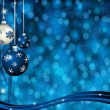 Christmas-Blue & Silver Balls — Stock Photo