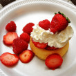 Stock Photo: Strawberry and Raspberry Shortcake