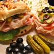 Stock Photo: Deli Meat and Veggie Sandwiches