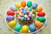 Easter Eggs with Confections — Stock Photo