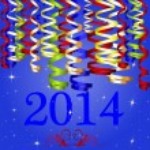 2014 Ribbon New Year — Stock Vector
