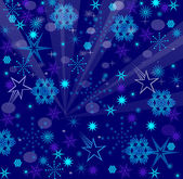 Blue & Purple Snow Flakes — Stock Vector