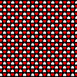 Illustration of a Background of Black with Red & White Hearts — Stock Photo