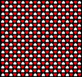 Ilustracja tła czarny z czerwonym & białe serca — Zdjęcie stockowe