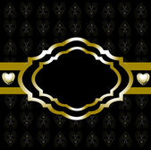 Background-Black & Gold Abstract — 图库照片