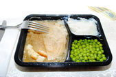 Turkey TV Dinner — Stock Photo
