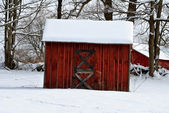 Red Shed — Stock Photo