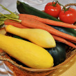Fresh Harvested Summer Vegetables — Stock Photo #41693433