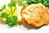 Baked Lemon Pepper Chicken — Stock Photo