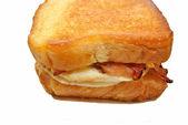 Texas Toast Sandwich Isolated Over White — Stock Photo