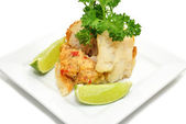 Gourmet Stuffed Cod with Lime — Stock Photo