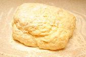 Raw Dough in Flour — Stock Photo