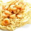 Shrimp Scampi on Pasta — Stock Photo