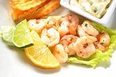 Close-Up of Spicy Shrimp Salad — Stock Photo