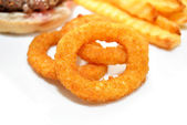 Side Dish of Onion Rings — Stok fotoğraf