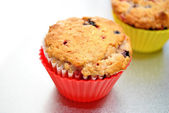 Triple Berry Muffins — 图库照片