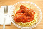 A Served Bowl of Pasta, Meat and Sauce — Stock Photo